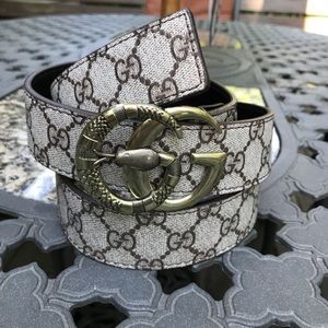 Gucci Supreme Snake Belt Size 36-38